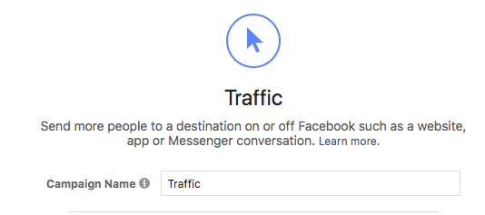 facebook advertising for photographers - traffic ad