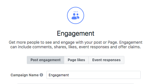 facebook marketing for photographers - engagement campaign