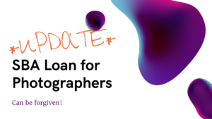 SBA loan for photographers